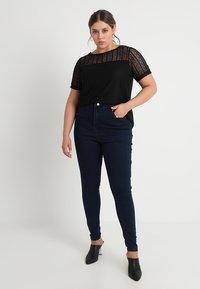 Missguided Plus - VICE HIGHWAISTED - Jeans Skinny Fit - dark blue indigo - 1