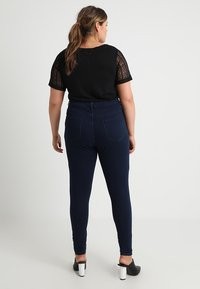 Missguided Plus - VICE HIGHWAISTED - Jeans Skinny Fit - dark blue indigo - 2