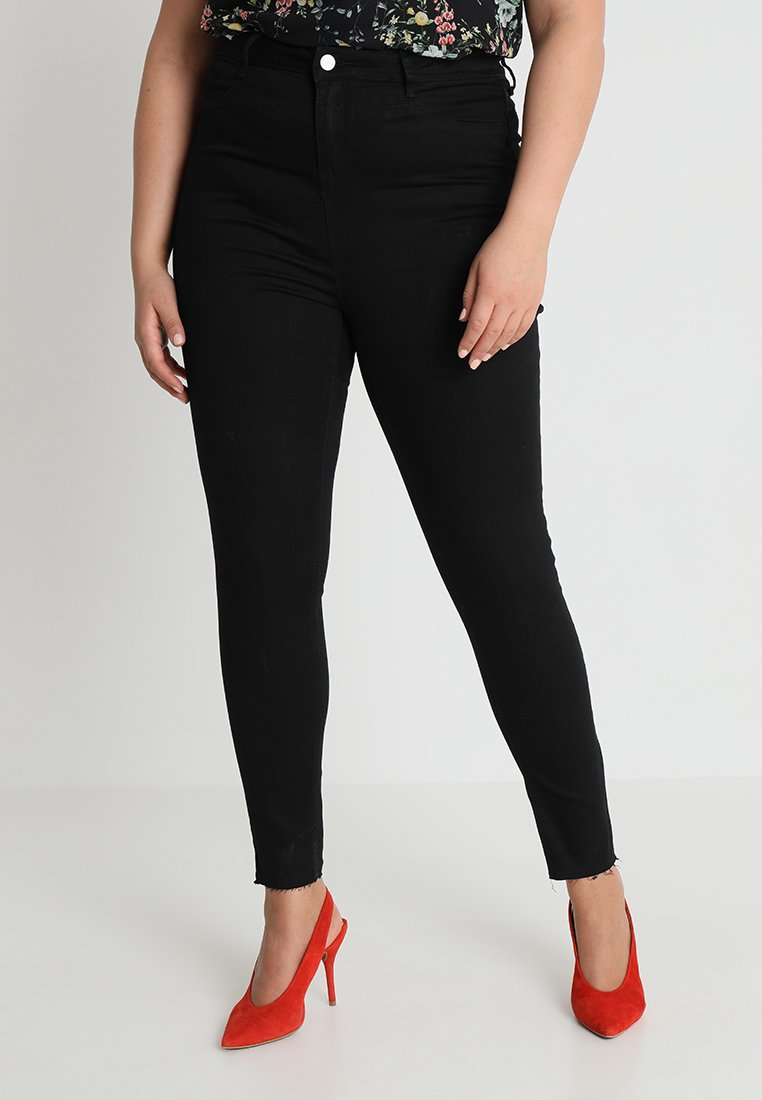 Missguided Plus - LAWLESS HIGHWAISTED SUPERSOFT - Jeans Skinny - black