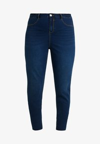 Missguided Plus - LAWLESS HIGHWAISTED SUPERSOFT - Jeans Skinny Fit - deep blue - 5