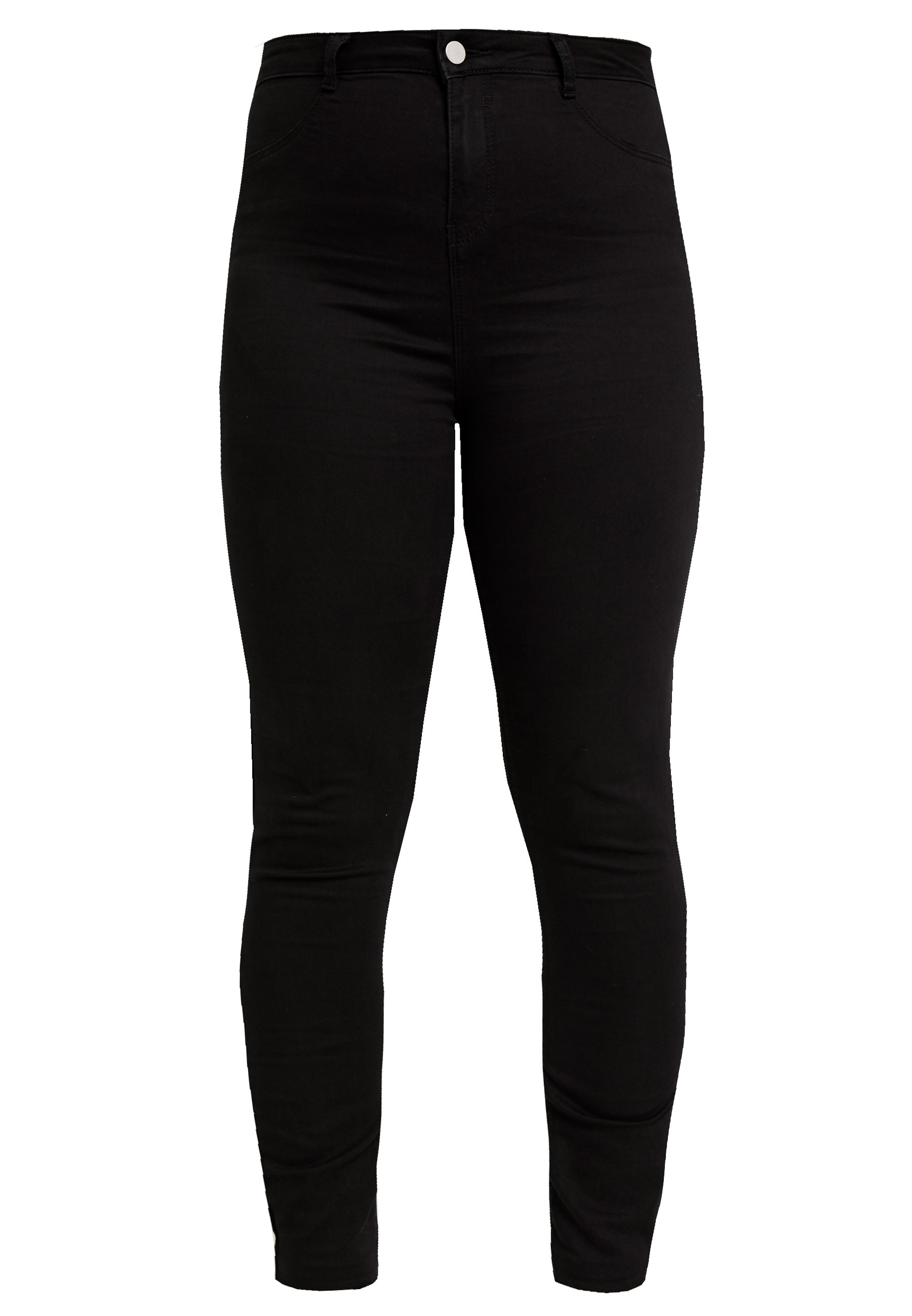 Missguided Plus LAWLESS HIGHWAISTED SUPERSOFT - Jeansy Skinny Fit - black