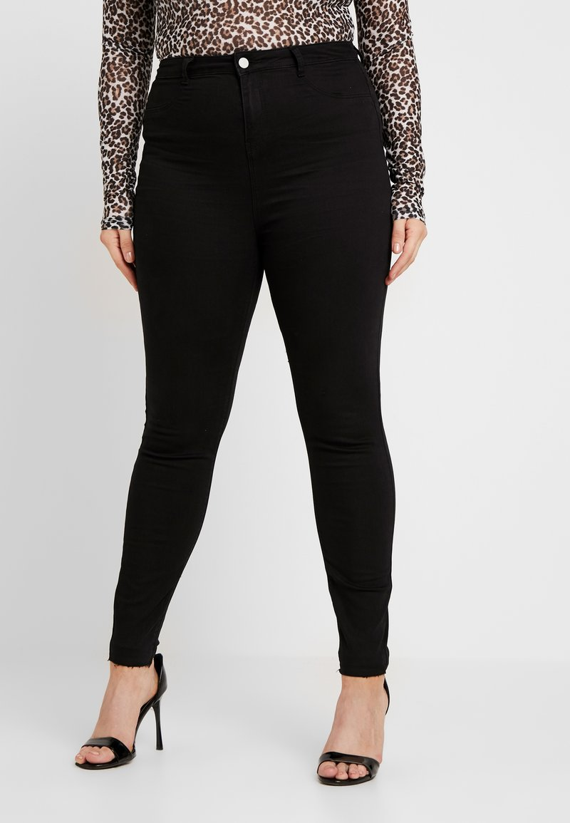 Missguided Plus - LAWLESS HIGHWAISTED SUPERSOFT - Jeans Skinny Fit - black