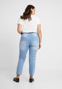 Missguided Plus - RAW HEM - Jeans slim fit - light blue - 2