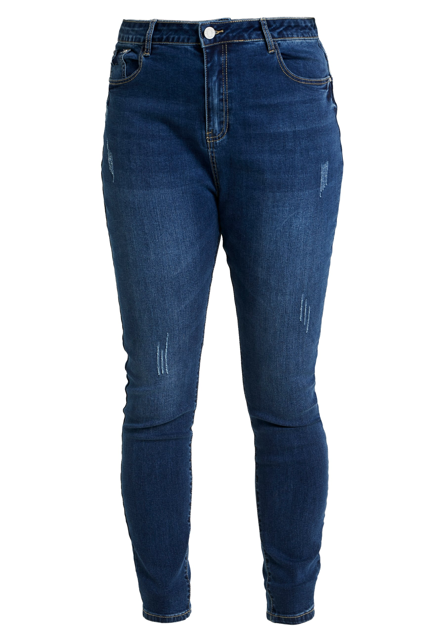 Missguided Plus SINNER HIGH WAISTED SEAM DETAIL - Jeansy Skinny Fit - blue