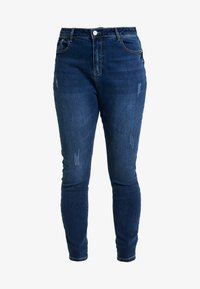 Missguided Plus - SINNER HIGH WAISTED SEAM DETAIL - Jeans Skinny Fit - blue - 3
