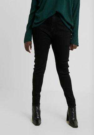 SINNER HIGH WAISTED SEAM DETAIL - Jeans Skinny - black
