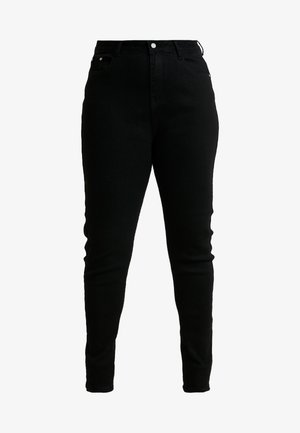 SINNER HIGH WAISTED SEAM DETAIL - Jeans Skinny Fit - black