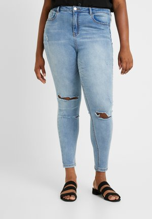 HIGH WAISTED AUTHENTIC RIPPED  - Jeans Skinny Fit - blue