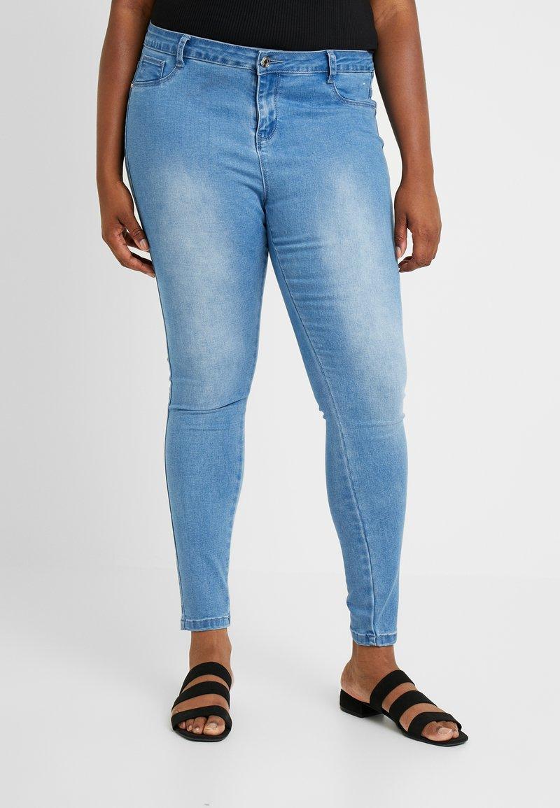 Missguided Plus - ANARCHY MID RISE - Skinny džíny - distressed blue
