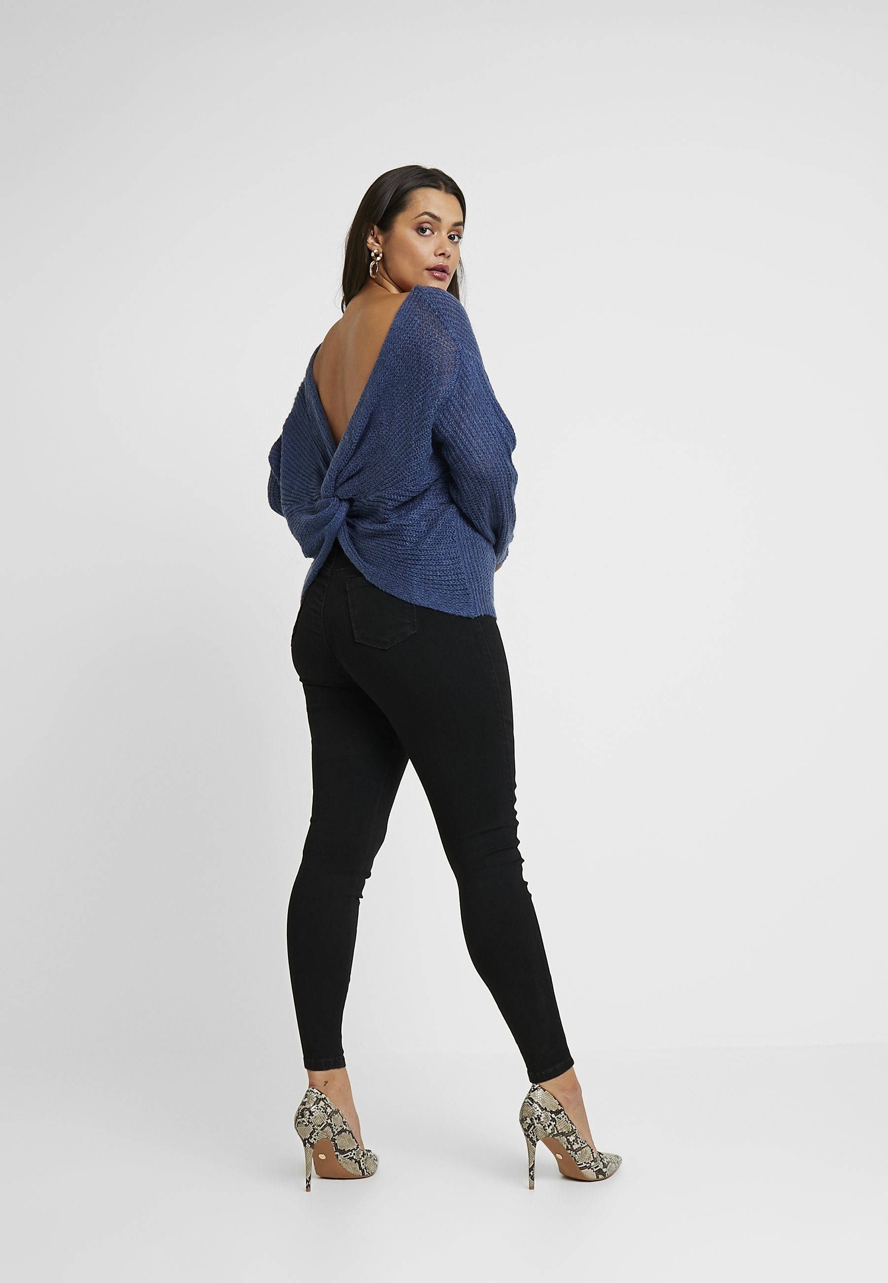 Missguided Plus ANARCHY MID RISE - Jeansy Skinny Fit - black