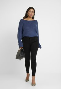 Missguided Plus - ANARCHY MID RISE - Jeans Skinny Fit - black - 1