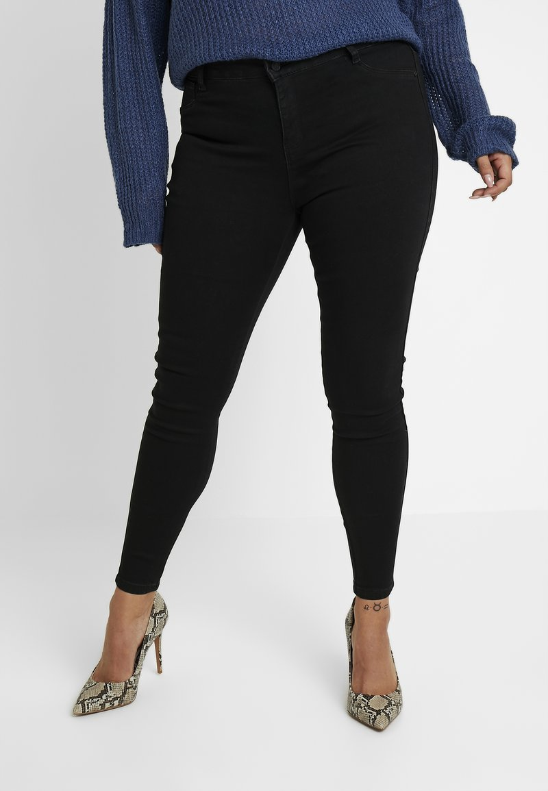 Missguided Plus - ANARCHY MID RISE - Vaqueros pitillo - black