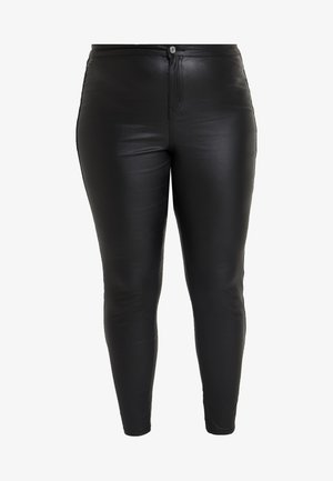 CURVE VICE HIGH WAISTED COATED - Kangashousut - black