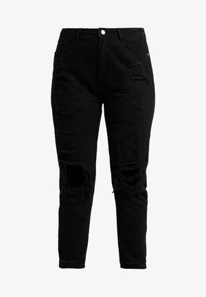 RIOT DISTRESSED - Relaxed fit jeans - washed black