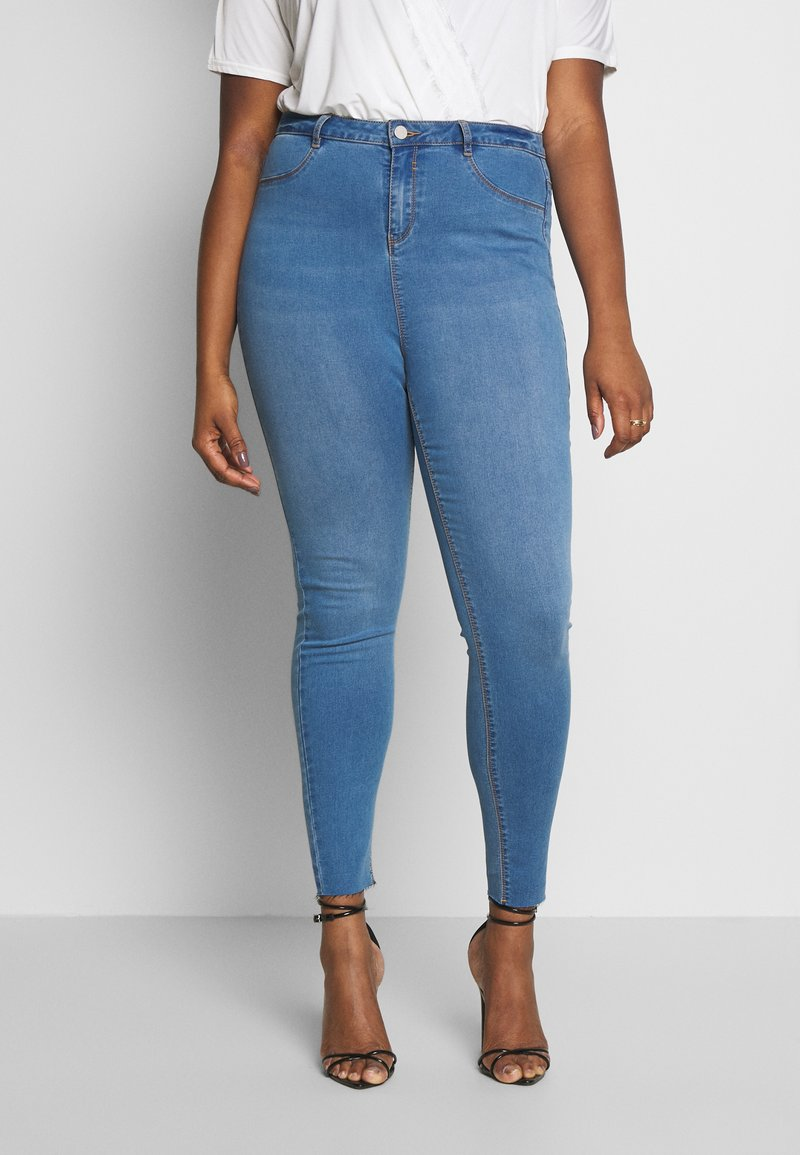Missguided Plus - SUPERSOFT LAWLESS - Jeggings - light blue