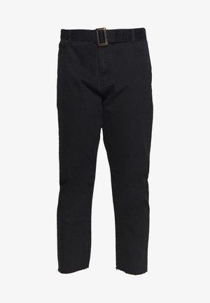 TORTOISE BUCKLE - Straight leg jeans - black