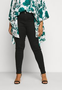 Missguided Plus - PLUS HIGH WAISTED BACK SEAM DETAIL - Jeans Skinny Fit - black - 0