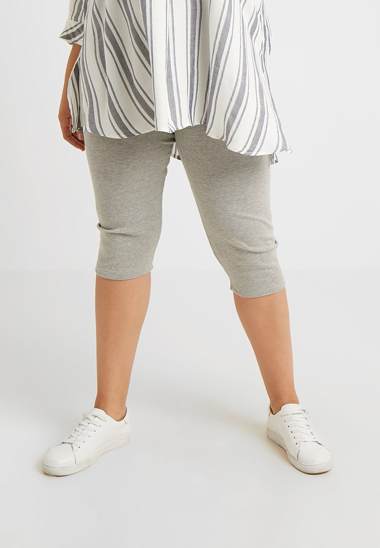 Missguided Plus - CURVE 3/4 LENGTH CYCLING 2 PACK  - Shorts - grey/camel