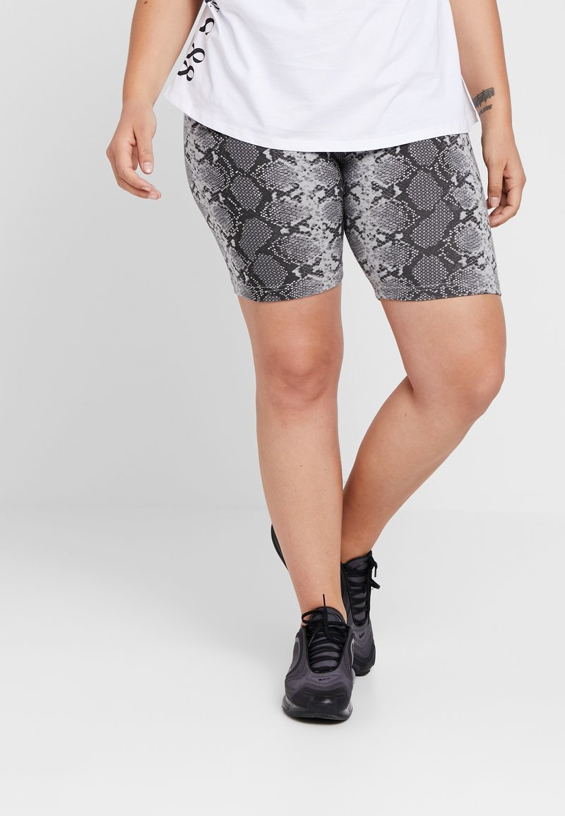 Missguided Plus - CYCLING 3 PACK  - Shorts - snake graphic/lime/black