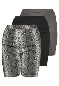 Missguided Plus - CYCLING 3 PACK  - Short - black charcoal - 0