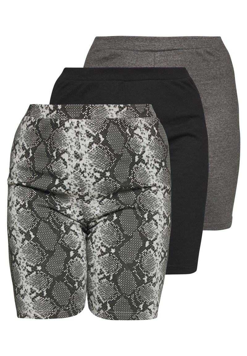 Missguided Plus - CYCLING 3 PACK  - Short - black charcoal