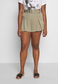 Missguided Plus - BELTED TAILORED - Shorts - mint - 0