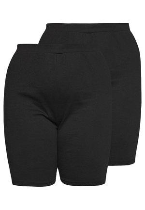 CYCLING 2 PACK - Shorts - black