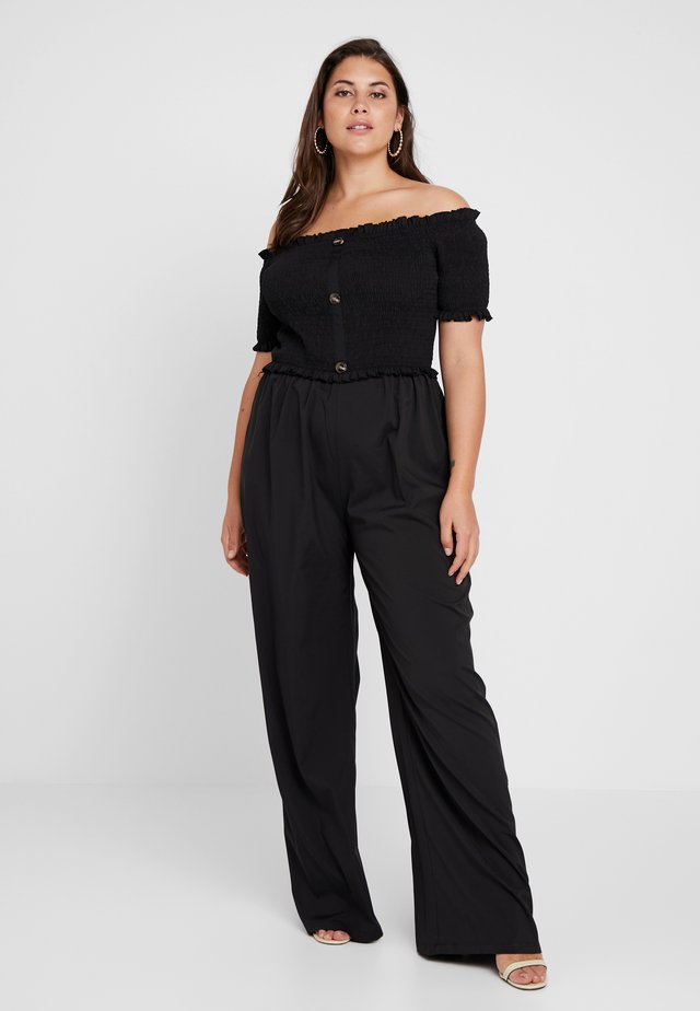 SHIRRED HORN BUTTON BARDOT - Overall / Jumpsuit - black