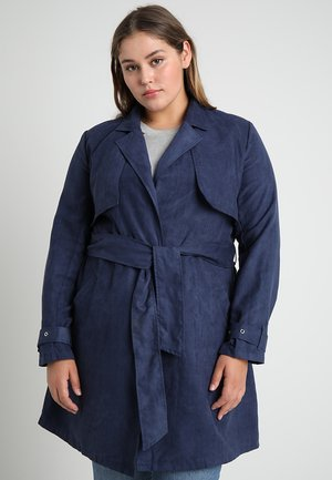 CURVE PEACHED  - Trenchcoat - navy