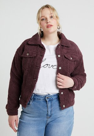 CURVE TRUCKER JACKET - Winter jacket - plum