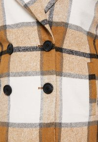 Missguided Plus - MUSTARD CHECK COCOON COAT - Mantel - brown - 4