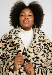 Missguided Plus - OVERSIZED LEOPARD BORG - Mantel - brown - 3