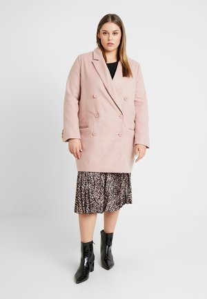 DOUBLE BREASTED FORMAL COAT - Mantel - rose
