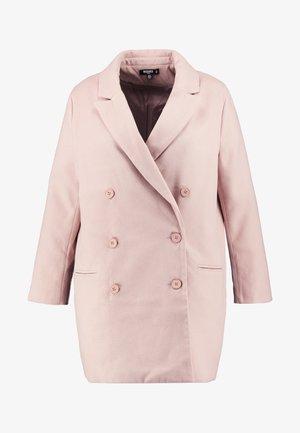 DOUBLE BREASTED FORMAL COAT - Zimní kabát - rose