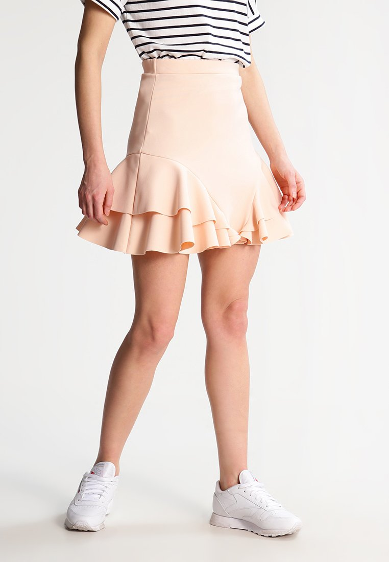 Missguided Petite - A-line skirt - nude