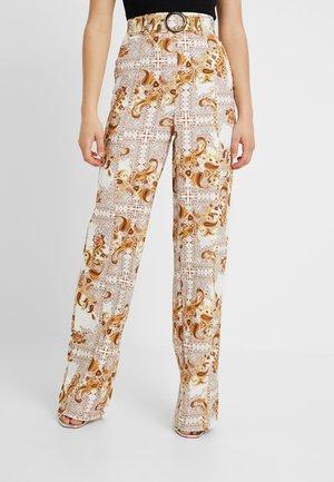 PALAZZO PANTS - Kalhoty - white