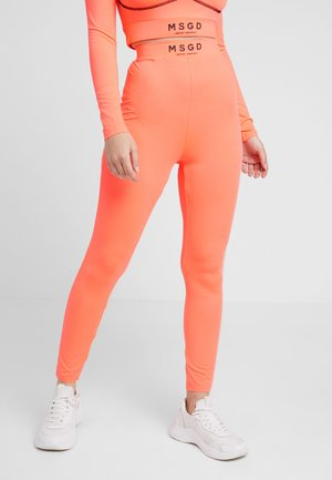WAIST LEGGINGS - Leggings - Trousers - neon