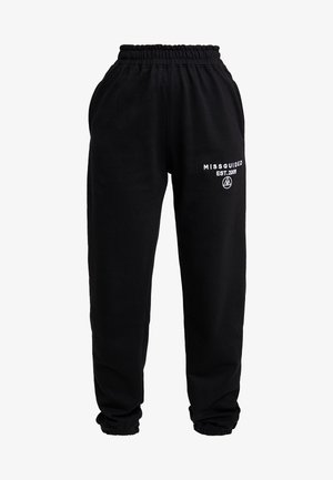 SLOGAN - Tracksuit bottoms - black