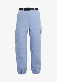 Missguided Petite - BELTED UTILITY COMBAT TROUSER - Kalhoty - blue - 3