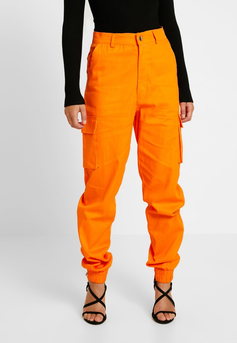 Missguided Petite - PLAIN CARGO TROUSER - Stoffhose - orange