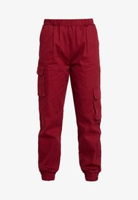 Missguided Petite - TWILL CARGO - Tracksuit bottoms - burgundy - 3