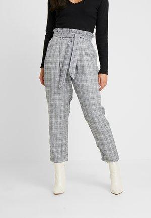 PAPERBAG WAIST CHECK TROUSERS - Pantalon classique - grey