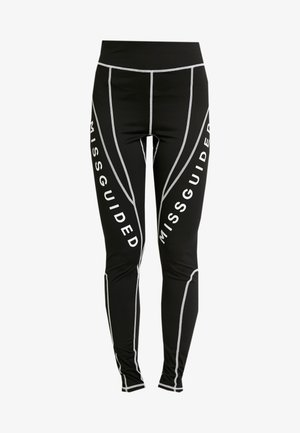 MISSGUIDED PANEL CONTRAST - Leggings - black