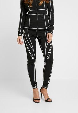 MISSGUIDED PANEL CONTRAST - Leggings - black