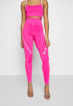 ACTIVE LOGO PANELLED LEGGINGS AND CROP SET ACTIVEWEAR - Leggings - Trousers - pink