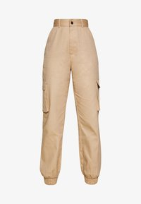 Missguided Petite - PLAIN CARGO TROUSER - Cargo trousers - sand - 3
