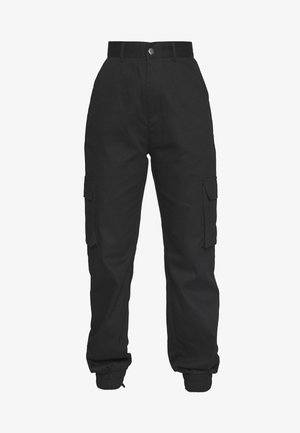 PLAIN CARGO TROUSER  - Pantalon cargo - black