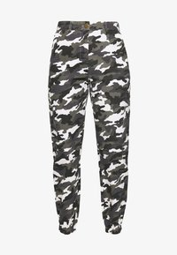 Missguided Petite - HIGH WAISTED CAMO CARGO TROUSERS - Pantaloni - grey - 3