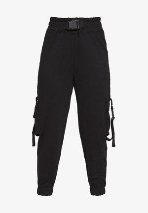 SEAT BELT CARGO TROUSERS - Cargo trousers - black