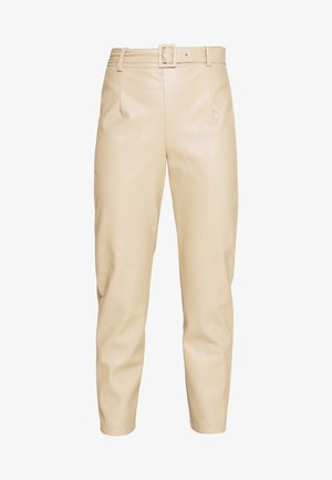 BELTED TROUSERS - Kalhoty - sand